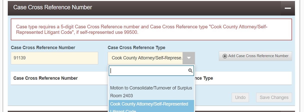 Note: The Cook County Clerk of Court has indicated (as recently as April 2019) that it plans to switch from requiring the five-digit Cook County Attorney Number accompany all filings to individual attorney's ARDC numbers, but that change has yet to go into effect. If that change occurs, CVLS will update these instructions.